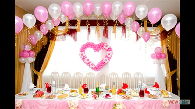 Romantic Balloon Decorations