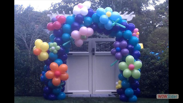 Custom Garden Balloon Decor