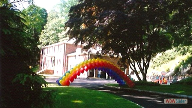 Single Strand Balloon Arch Over Driveway