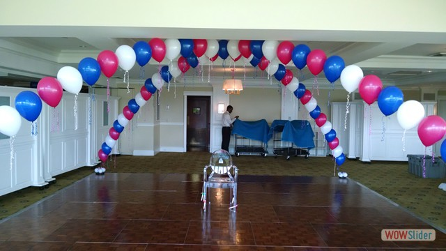 Single Strand Balloon Arches Over Dance Floor