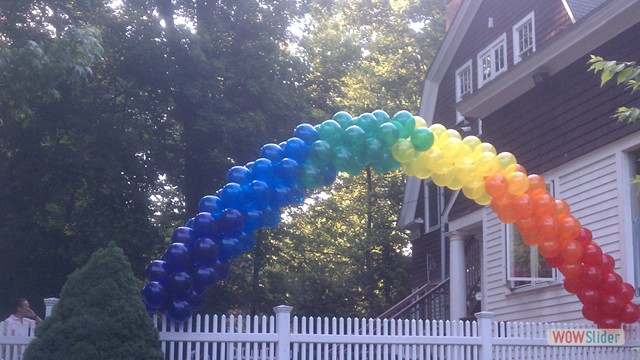 Spiral Balloon Arch Garden Party