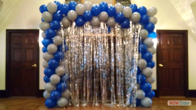 Spiral Balloon Entrance to Event Room
