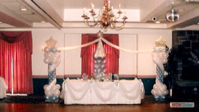 Wedding Reception Balloon Decor