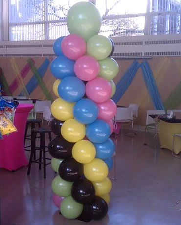 Colorful Balloon Column Decor