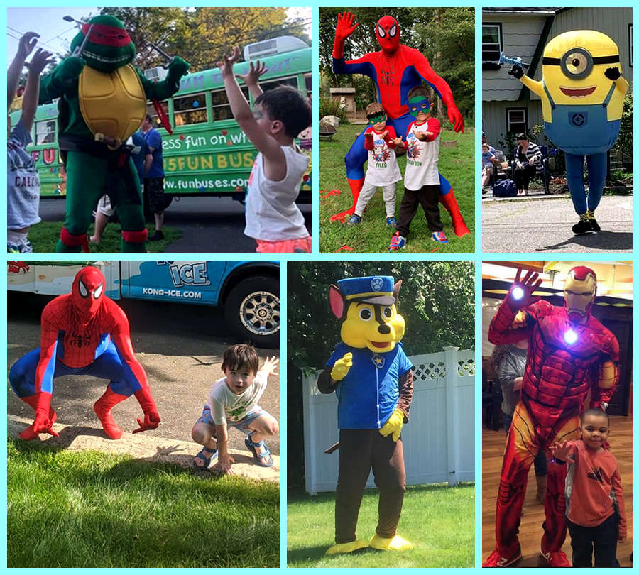 Costumed Characters for Children's Party