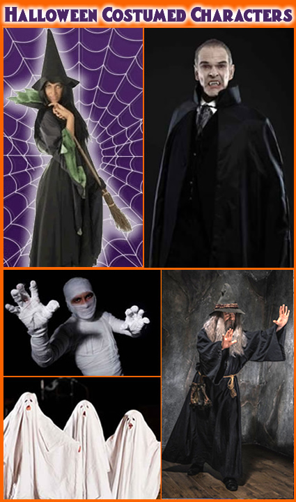 Halloween Costumed Characters For Hire
