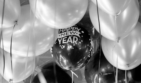 New Year's Eve Balloon Decoration