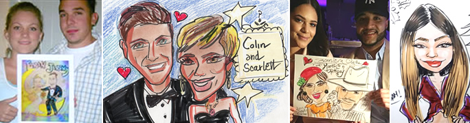 Valentines Caricature Artist Drawings